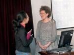 Prof Leeds-Hurwitz with SISU graduate student