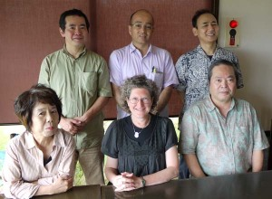 Faculty lunch at University of the Ryukyus