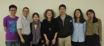 Sandel and graduate students with Leeds-Hurwitz