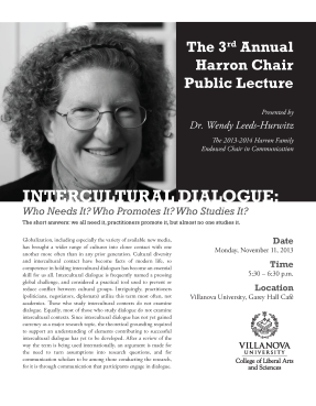Harron Lecture flyer