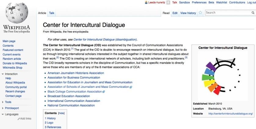 CID Wikipedia entry