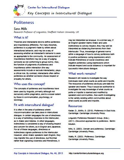 Key Concept #46 Politeness by Sara Mills