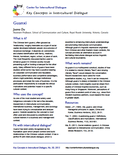 Key Concept #50: Guanxi by Juana Du