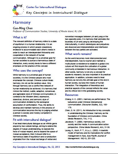 Key Concept #52: Harmony by Guo-Ming Chen