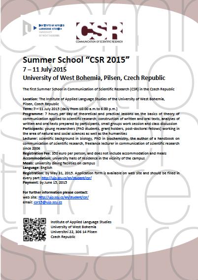 CRS Summer School 2015