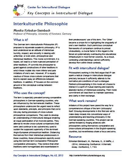 Key Concept #63 Interkulturell Philosophie