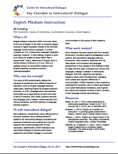 Key Concept #66 English Medium Instruction by Ali Karakas