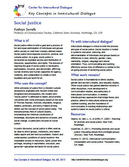 Key Concept #68: Social Justice by Kathryn Sorrells