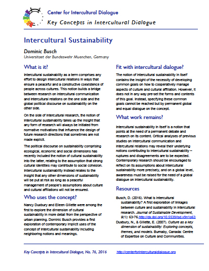 KC76 Intercultural Sustainability by Dominic Busch