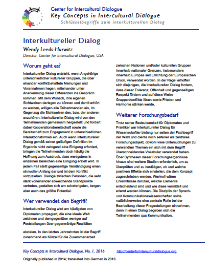 KC1 Interkultureller dialog_German