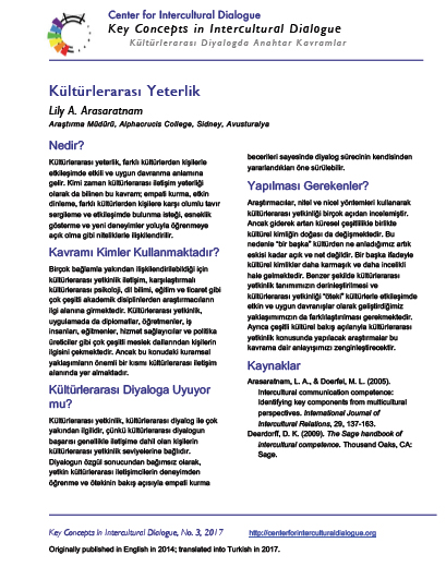 KC3 Intercultural Competence_Turkish