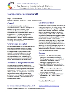 KC3 Intercultural Competence_Romanian