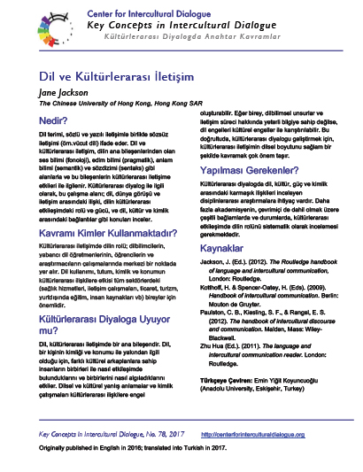 KC78 Language and Intercultural Communication_Turkish