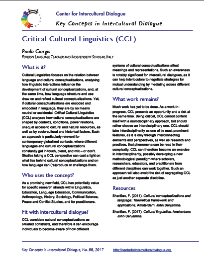 KC88 Critical Cultural Linguistics