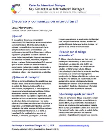 KC11 Intercultural Discourse & Communication_Spanish