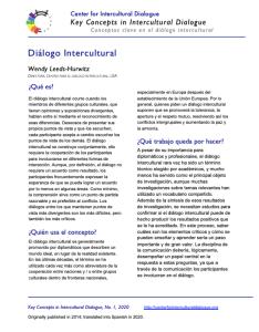 KC1 Intercultural Dialogue_Spanish