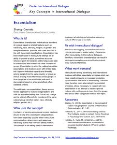 KC98 Essentialism