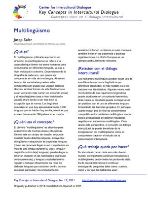 KC17 Multilingualism_Spanish