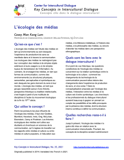 KC35 Media Ecology-French