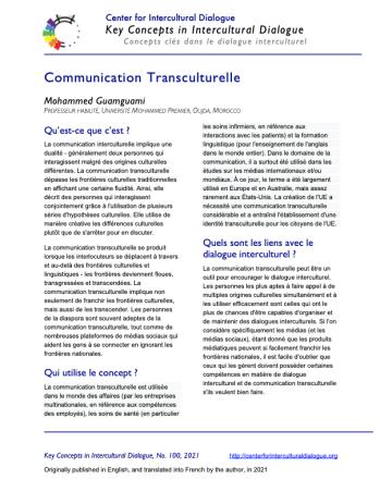KC100 Transcultural Communication_French_v2