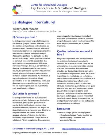 KC1 Intercultural Dialogue_French