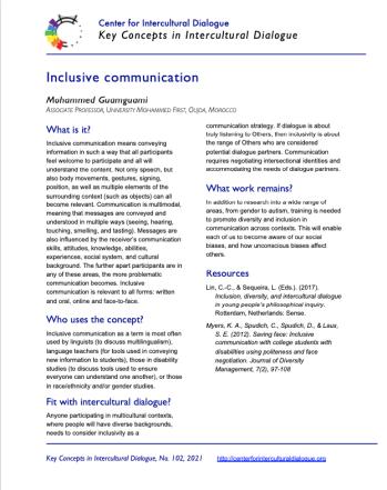 KC102 Inclusive communication
