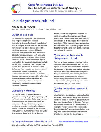 KC10 Cross-cultural dialogue_French