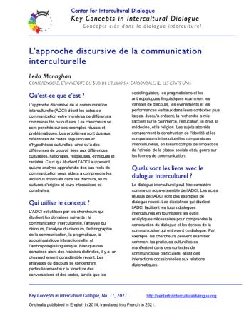 KC11 Intercult discourse & comm_French