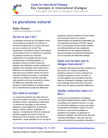 KC15 Cultural pluralism_French