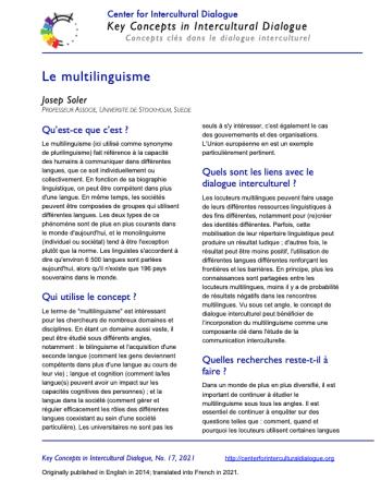 KC17 Multilingualism_French
