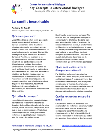 KC18 Intractable conflict_French