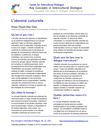 KC22 Cultural identity_French