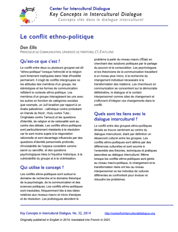 KC32 Ethnopolitical conflict_French