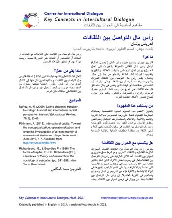 KC6 Intercultural capital_Arabic